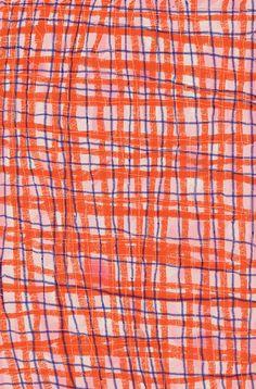shaky plaid by ashleyg, via Flickr Retro Pattern, Pattern Design, Print Design, Textures Patterns, Print Patterns, Motifs Textiles, Graphic Wallpaper, Kids Prints, Aesthetic Art