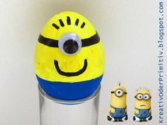 Funny easter eggs - Do It Yourself Funny Easter Eggs, Hoppy Easter, Diy Projects To Sell, Easter Crafts, Minions, Kindergarten, Barn, Holiday Decor, Kids