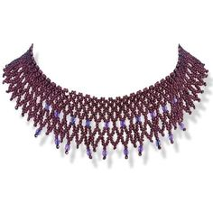 Handmade Rusty Purple Beaded Choker Necklace With Purple Crystals ($84) ❤ liked on Polyvore featuring jewelry, necklaces, beading necklaces, purple jewelry, beaded choker, choker jewelry and beading jewelry