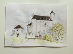 Watercolor painting 🏰