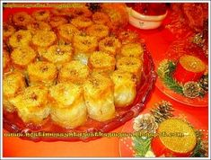 Low Calorie Cake, Greek Pastries, Greek Sweets, Mediterranean Recipes, Greek Recipes, Confectionery, Pineapple, Deserts, Cooking Recipes