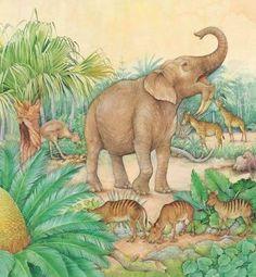Resultado de imagem para miocene animals and plants