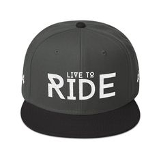 Live to Ride Snapback Cap Snapback Cap, Zen, Hats, Fashion, Moda, Hat, Fashion Styles, Snapback Hats, Fashion Illustrations