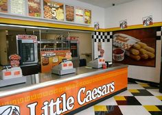 Little Caesars Pizza! This is where Lucas and Faith meet each other and I envision their meeting spot looking just like this!