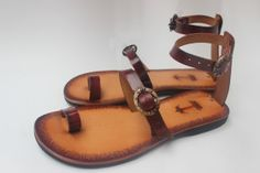 Barefoot Sandals With Laser Engraving, Leather Flats