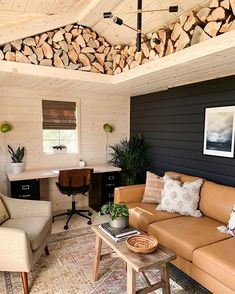 With she-sheds on the rise we werent surprised to see a she-shed makeover. Befor – 2019 - Sofa ideas - With she-sheds on the rise we werent surprised to see a she-shed makeover. Befor 2019 With she-sh - Shed Office, Backyard Office, Outdoor Office, Garden Office, Shed Makeover, Modern Rustic Decor, Rustic Office, Modern Farmhouse, Casas Containers