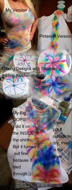Tie Dye Sharpie Marker Project