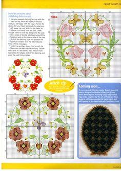 Heart wreaths 4 of 4 Cross Stitch Geometric, Tiny Cross Stitch, Butterfly Cross Stitch, Cross Stitch Heart, Cross Stitch Cards, Cross Stitch Flowers, Cross Stitch Designs, Cross Stitching, Cross Stitch Patterns