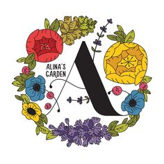 My entry for Alina's Garden logo. A garden created for a girl who lived to bring the beauty of nature and her soul to all of us. She is still doing it. https://www.facebook.com/events/1448799118749954/ #леттеринг #типографика #иллюстрация #localsmd #handlettering #graphicdesign #graphic #logo #radioncicic #typography #illustration #naiveart #art #artist #calligraphy #vector #a