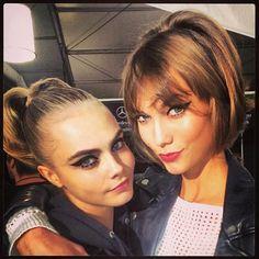 Cara Delavigne & Karlie Kloss #NYFW  Highlight Description Cara Delavigne & Karlie Kloss #NYFW