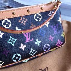 Louis Vuitton Multicolor black Pochette Authentic with dust bag:) Louis Vuitton Bags