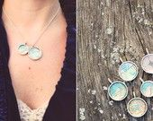 Local is Lovely Necklace with Vintage Map and Pearl. $54.00, via Etsy.