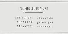 Mirabelle from Magpie Paper Works is a family of four hand-lettered fonts