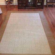 Custom Wool Sissal rug with custom fabric border