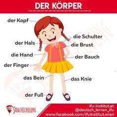Deutschlernen in Wien Study German, Learn German, German Grammar, German Words, Germany For Kids, Deutsch Language, Arabic Alphabet For Kids, German Language Learning, Grammar And Vocabulary