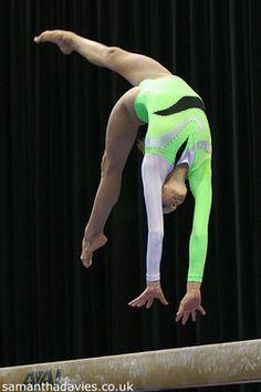 Nastia Liukin (United States) on balance beam at the 2005 Visa Championships