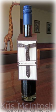 Here is a really quick little project for you. I made this tag to go on a bottle of Chocolate Port that I gave my Dad for Father's Day. The idea came from a card I found on Mary Fish's blog a long...