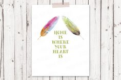 Check out Feathers watercolor printable quote by DoradaPrintables on Creative Market