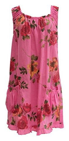Ladies Womens Italian Lagenlook Quirky Layering Sleeveless Rose Floral Print Tunic Dress Pockets One Size Plus (One Size, Cerise) Unknown http://www.amazon.co.uk/dp/B00KWCL93S/ref=cm_sw_r_pi_dp_53j6tb0DHMXBX