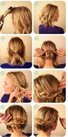 Coiffure a faire sur cheveux mi long Curly Hair Styles, Cute Hairstyles For Short Hair, Summer Hairstyles, Diy Hairstyles, Medium Hair Styles, Easy Hairstyle, Pretty Hairstyles, Trendy Haircuts, Hair Dos