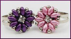 DIY   Ring mit Blume aus Perlen fädeln   Beaded ring   Twin beads flower...