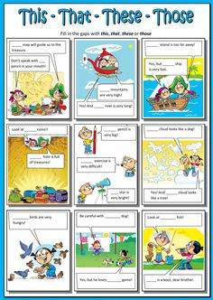 This - that - these - those Idioma: inglés Curso/nivel: elementary Asignatura: English as a Second Language (ESL) Tema principal: Demonstratives Otros contenidos: This that these those, demonstrative adjectives English Worksheets For Kids, English Lessons For Kids, Kids English, English Activities, English Words, Learn English, Language Activities, English Language Learning, Teaching English
