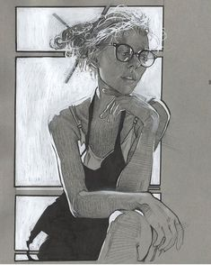 Charcoal Drawing Tips Paint pen and Prismacolor on toned paper. Figure Sketching, Figure Drawing, Paper Drawing, Painting & Drawing, Cool Drawings, Drawing Sketches, Human Sketch, Toned Paper, Drawing Skills