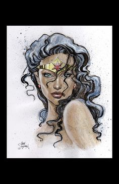 Wonder Woman Signed Art by Gary Shipman, in Gary Shipman's Gary Shipman - Art For Sale Comic Art Gallery Room Comic Book Characters, Comic Character, Comic Books Art, Comic Art, Wonder Woman Art, Wonder Woman Comic, Wonder Women, Héros Dc Comics, Tatoo 3d
