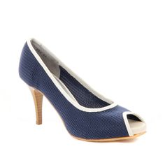 Ron White All Day Heels Sheila Navy / Ivory