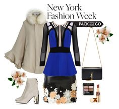 """Pack for NYFW!"" by ana3blue ❤ liked on Polyvore featuring Yves Saint Laurent, Chicwish, Emanuel Ungaro, Topshop, Posh Girl, Gucci, women's clothing, women, female and woman"