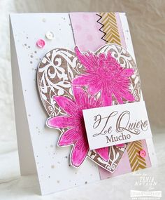 #Cre8time for passion flowers and lots of love. #Stampendous #valentine #love #stamping