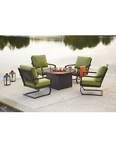 Madison Outdoor Patio Furniture Fire Pit Seating Sets & Pieces - furniture - Macy's