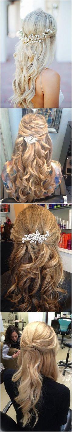 Simple Wedding Guest Hairstyles For Medium Length Hair Simple Wedding Hairstyles… - Frisuren Hochzeitsgast Wedding Hair Side, Elegant Wedding Hair, Wedding Hairstyles For Long Hair, Wedding Updo, Trendy Wedding, Wedding Ideas, Elegant Updo, Wedding Makeup, Wedding Happy