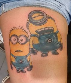 Tattoo Minion   。◕‿◕。 See my Despicable Me  Minions pins https://www.pinterest.com/search/my_pins/?q=minions