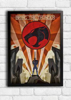 One of my new art deco style range #artdeco #fwgdesign #retro #thundercats #lion-o #thunder