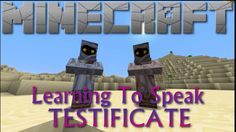 Minecraft - Learning to Speak Testificate.
