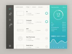 A case study for a home automation app. This is the web version.  Press L if you like it :)  Follow me on Behance