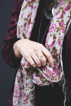 Ctrystal ring DIY Diy Rings, Stevie Nicks, Free Spirit, Floral Tie, Alexander Mcqueen Scarf, Photos, Style, Fashion, Floral Lace