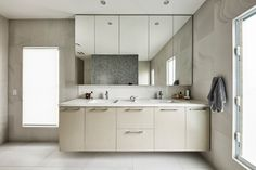 Caesarstone Quartz Colours for Kitchens & Bathrooms Lisa Smith, Calacatta Marble, Engineered Stone, Splashback, Kitchen Colors, Double Vanity, Counter, Bathrooms, Appliances