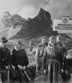 Desde el siglo XVI, cuando todavia no chillaba Bjork, a los intrépidos balleneros vascos se les preparaba un comité de bienvenida en todos los puertos de Islandia, tradición que ha perdurado hasta nuestros días. Rescatamos del Museo Etnográfico de Reikiavik esta alegre estampa, fechada en 1886, aproximadamente.
