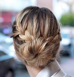 Medium Blonde Braided Hairstyle - Homecoming Hairstyles 2013
