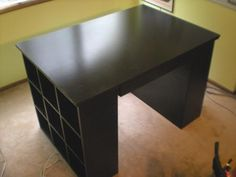 this craft table has lots of potential uses and making it yourself is so MUCH more affordable than the PB catalog/store