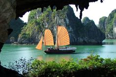 Halong Bay Day Cruise from Hanoi Get away from the city with this full-day tour and sightseeing cruise. See the sights on your trip to the marina, then enjoy the fantastic views from your boat on Halong Bay. Hotel pick up, drop off and lunch is included in the package.After a pick up from your hotel within Hoan Kiem District, you will begin your trip to Halong Bay, stopping along the way to stretch your legs.Once you arrive at Halong Bay Harbor, you will be welcomed aboard you...