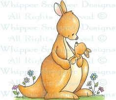 Mommy's Love - Zoo - Animals - Rubber Stamps - Shop