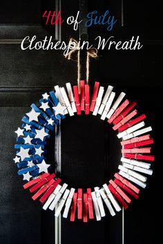 Stripes and Polka Dots:4th of July Clothespin WreathFloral Stamped T-Shirt Refashion {Using Celery}Find Finds