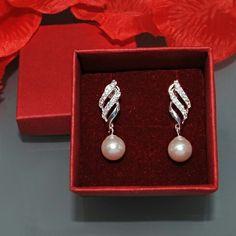 Silver jewellery - Earrings with Pearls form JEWELINE  www.jeweline.pl