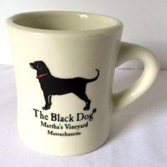 Black Dog Tavern Mug Marthas Vineyard Labrador Animals Diner Style Coffee Cup Vintage