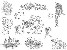 free christmas embroidery patterns to print | Vintage Hand Embroidery Pattern Lot of 101 Christmas Designs Bells ...