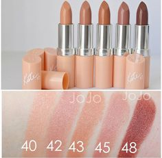 Rimmel Kate Moss Nude Collection Lipstick Swatches