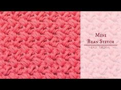 Hopeful Honey | Craft, Crochet, Create: How To: Crochet The Mini Bean Stitch - Easy Tutorial